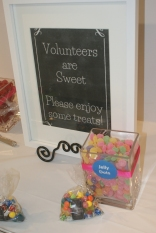Volunteers are sweet!