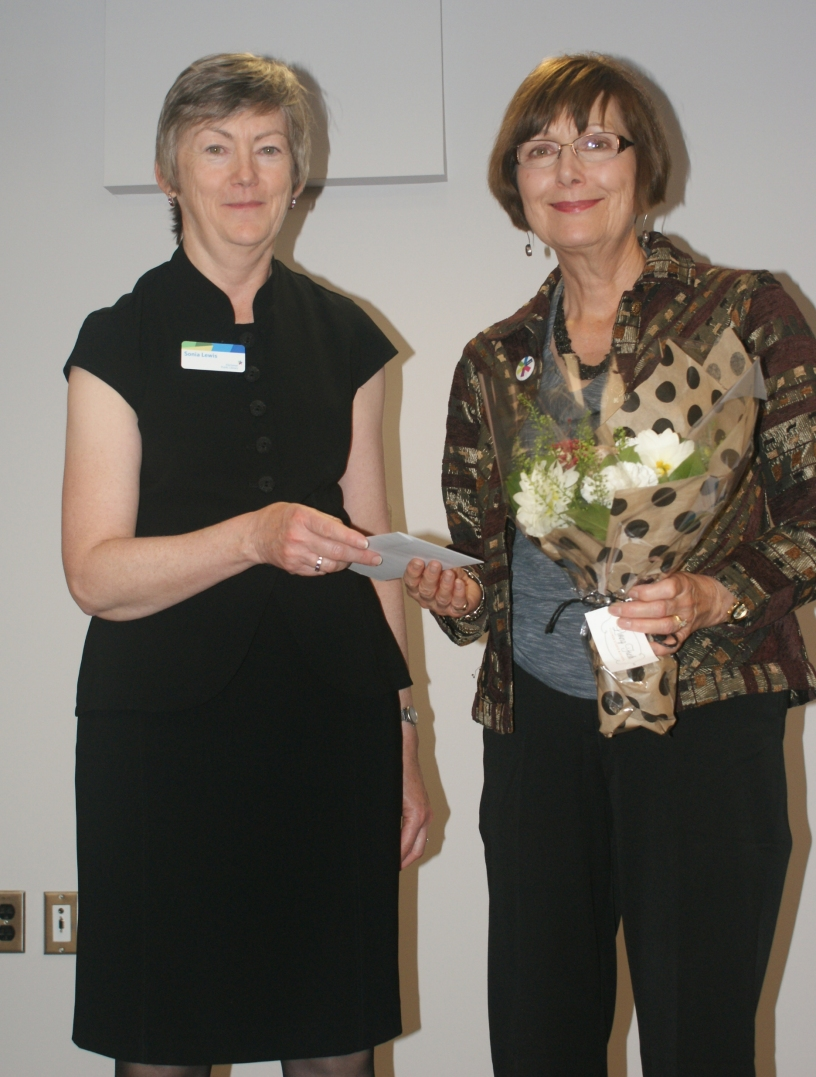 Sonia Lewis and our incredible 35-year service honouree, Judy Ward. Thank you Judy!
