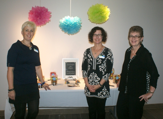 Library staff: Sheila, Sherry and Shelly ready to greet our guests