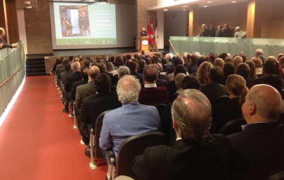 Kitchener Public Library CEO Sonia Lewis introduces Mayor Vrbanovic.