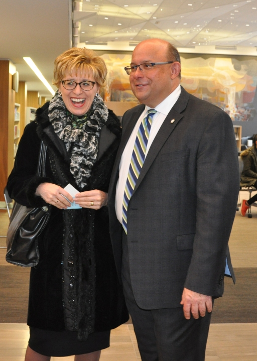 Kitchener Centre MPP Daiene Vernile with Mayor Vrbanovic.