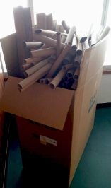 You see cardboard tubes, we see speedy marble chutes!
