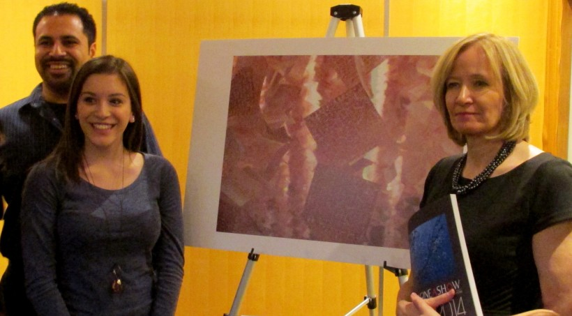 Emily & Jason Panda with Laureen Harper