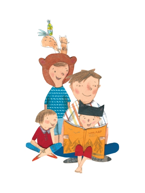 family_reading_together