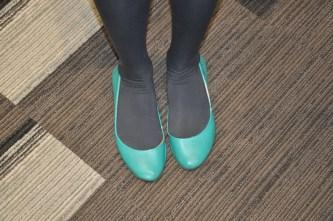 Karissa's lucky interview shoes.