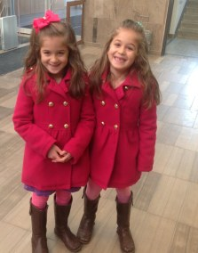 Am I seeing double? Twins on their first visit to Central.