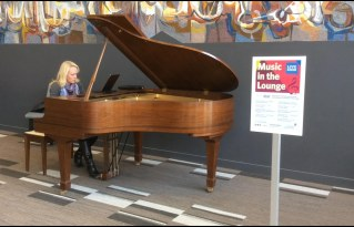 Pianist Amy Wark had everyone bopping in their seats, with tunes from Queen to the Peanuts theme song. Join us for Music in the Lounge every week.