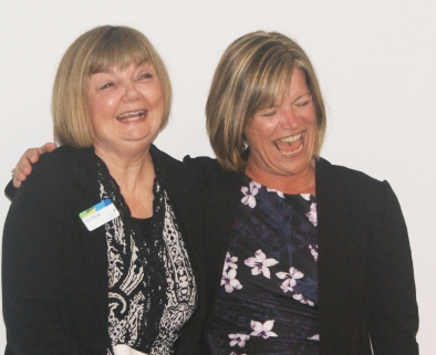 Ann with CEO Mary Chevreau