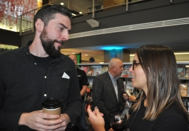 Matt Hortobagyi of Astrodog Media and Andrea Bellemare of CBC-KW