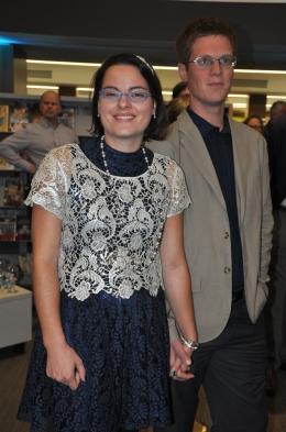KPL staffer Caitlin Laycox with Mark Feenstra