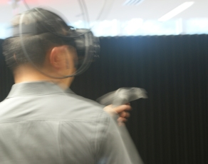 Action! David Yoon tries out virtual reality