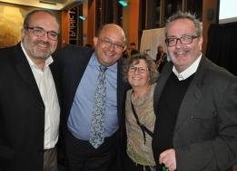 Joe Pavia, Mayor Berry Vrbanovic, Trudy Pavia, and Craig Norris