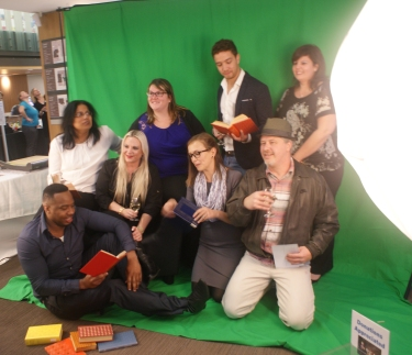 Sponsors Library Services Centre and their guests: green screen fun