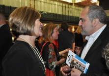 KPL CEO Mary Chevreau with journalist and library volunteer Joe Pavia