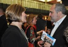 KPL CEO Mary Chevreau with journalist and library volunteer Joe Pavia