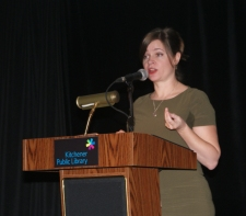 Guest librarian and Hive Waterloo Region founder Stephanie Rozek