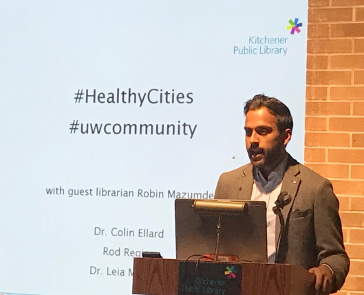Guest Librarian and Healthy Cities host Robin Mazumder