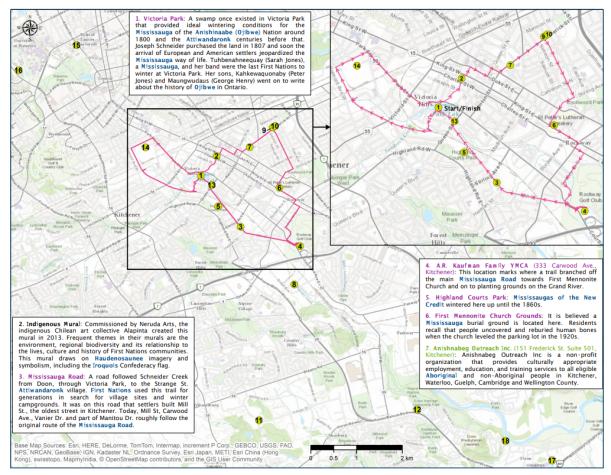 Aboriginal Sites Bike Map