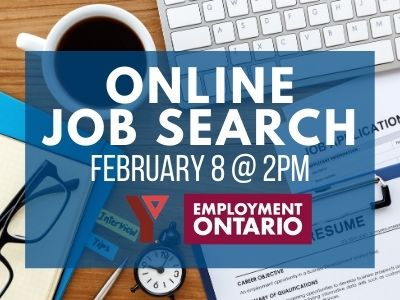 Online Job Search, February 8 @ 2PM, Employment Ontario